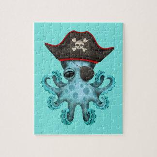 De leuke Blauwe Piraat van de Octopus van het Baby Puzzel