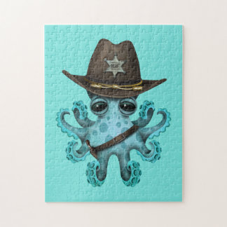 De leuke Blauwe Sheriff van de Octopus van het Legpuzzel