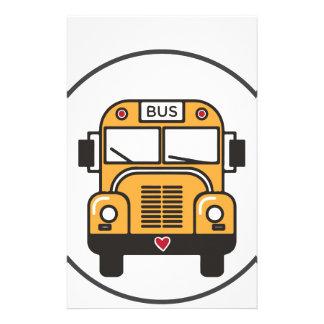 De leuke Bus van de School Briefpapier