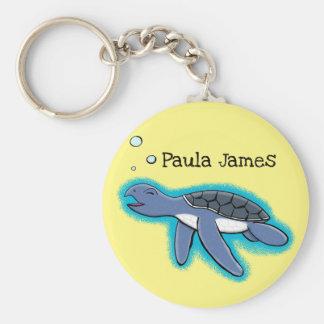 de leuke cartoon van de babyschildpad sleutelhanger