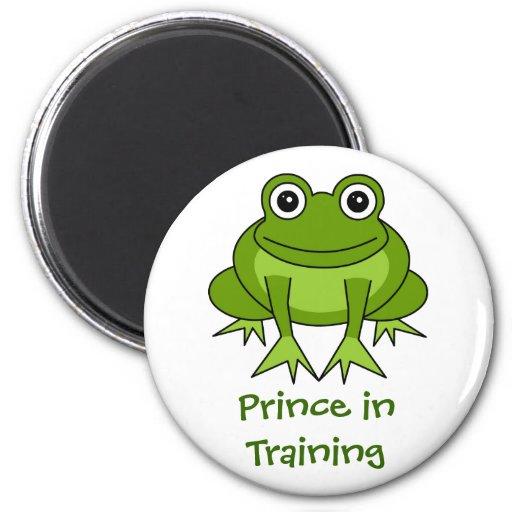 De leuke Cartoon van de Kikker - Prins in de Magne Koelkast Magneetje