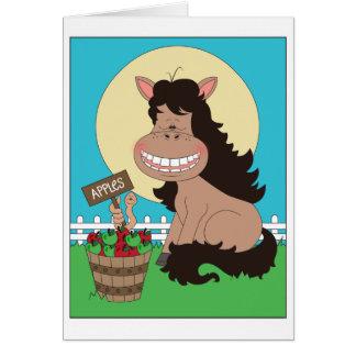 De leuke Cartoon van het Pony Kaart