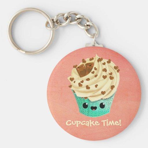 De leuke Chocolade Cupcake van de Vanille Sleutelhanger
