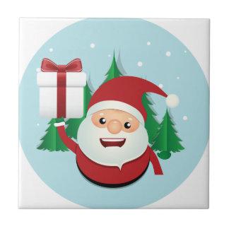 De leuke Cirkel van de Gift van de Kerstman Keramisch Tegeltje