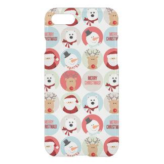 De leuke Cirkels van Kerstmis iPhone 7 Hoesje