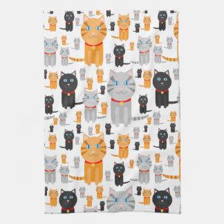De Leuke Collage van de pret van Oranje, Grijze, Keuken Handdoek