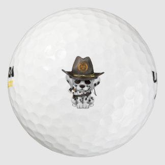 De leuke Dalmatische Jager van de Zombie van het Golfballen