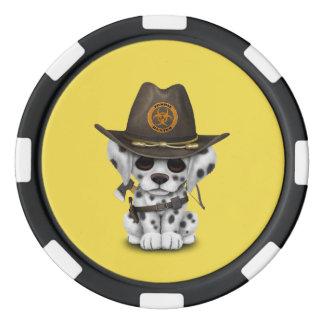 De leuke Dalmatische Jager van de Zombie van het Pokerchips