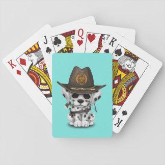 De leuke Dalmatische Jager van de Zombie van het Pokerkaarten