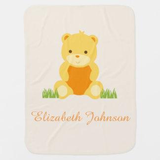 De leuke Deken van het Baby van Teddy van het Baby Inbakerdoek