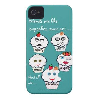 De leuke dekking van vrienden cupcakes iphone iPhone 4 hoesje