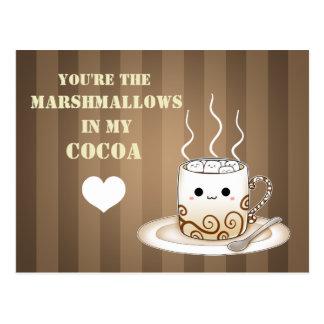 De leuke drank van de kawaii warme cacao briefkaart
