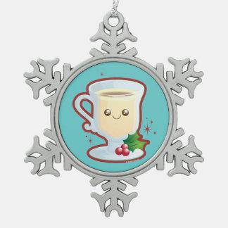 De leuke Eierpunch van Kerstmis Tin Sneeuwvlok Ornament
