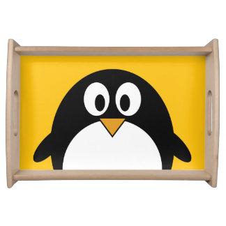 De leuke en Moderne Pinguïn van de Cartoon Tray