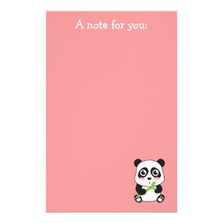 De leuke en Snoezige Panda van het Baby Gpersonaliseerd Briefpapier