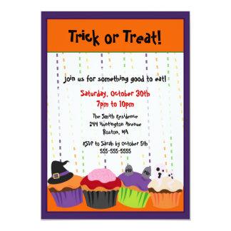 De LEUKE Enge Uitnodiging Cupcake van Halloween