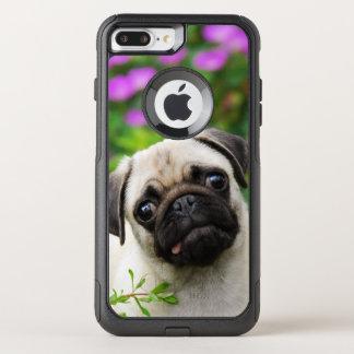 De leuke Fawn Gekleurde Pug Foto van het Huisdier OtterBox Commuter iPhone 7 Plus Hoesje