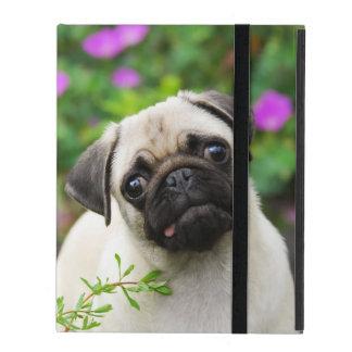 De leuke fawn-Kleur Pug Hond beschermende Hardcase iPad Hoesje