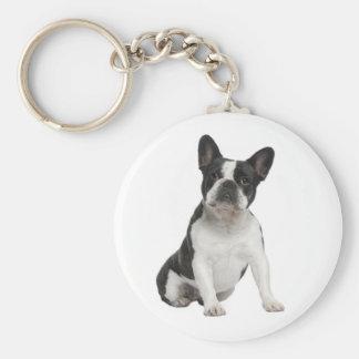 De leuke Franse Hond Keychain van het Puppy van de Sleutelhanger