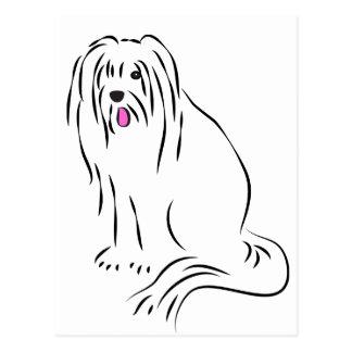 De leuke Gebaarde Ruwharige Hond van de Collie Briefkaart