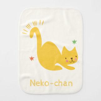 De Leuke Gele Kat van Kawaii. Voeg de Naam van de Monddoekje