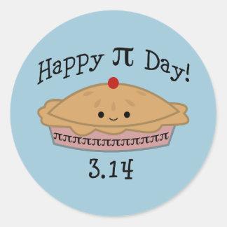 De leuke Gelukkige Dag van Pi! Ronde Sticker