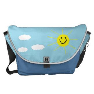 De leuke Gelukkige het Glimlachen Tekening van het Messenger Bags
