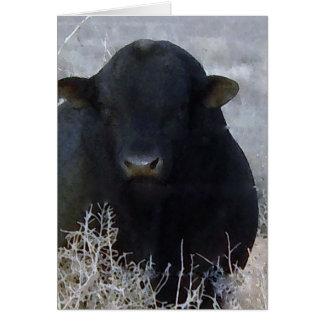 De leuke Gelukkige Stier van het Boerderij van de Wenskaart
