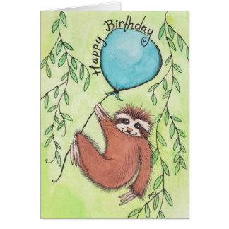 De leuke Gelukkige Verjaardag van de Luiaard Briefkaarten 0