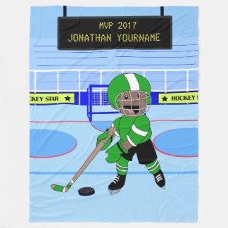 De leuke Gepersonaliseerde ster van het Ijshockey Fleece Deken