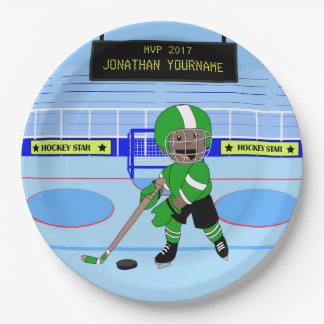 De leuke Gepersonaliseerde ster van het Ijshockey Papieren Bordjes
