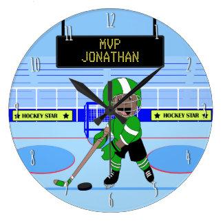 De leuke Gepersonaliseerde ster van het Ijshockey Ronde Klok Large