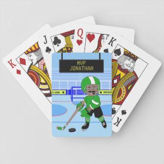 De leuke Gepersonaliseerde ster van het Ijshockey Speelkaarten