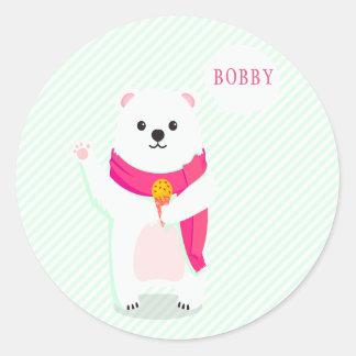 De leuke Gepersonaliseerde Stickers van de Ijsbeer