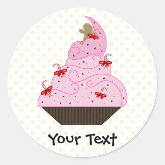 De leuke Giften van de Vakantie Cupcakes Ronde Sticker