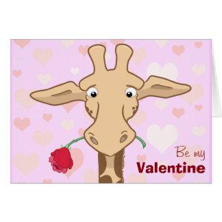De leuke Giraf & nam de Kaart van Valentijn toe