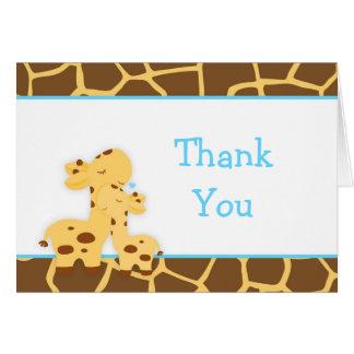 De leuke Giraf van de Jongen dankt u Briefkaarten 0