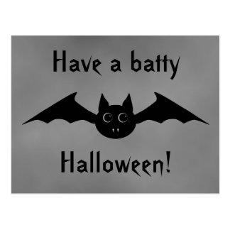 De leuke gotische vampier van Halloween met grote Briefkaart