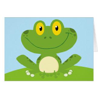 De leuke Groene Hoppy Verjaardag van de Kikker van Wenskaart