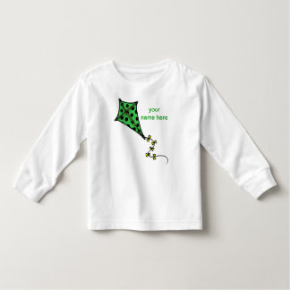 De leuke Groene Lange Sleeves van de Peuter van de Kinder Shirts
