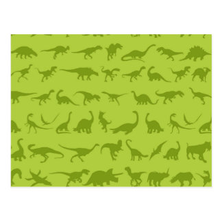 De leuke Groene Patronen van Dinosaurussen voor Briefkaart