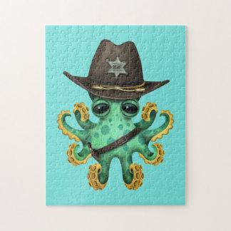 De leuke Groene Sheriff van de Octopus van het Legpuzzel