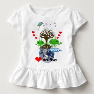 De leuke Groene Vreemdelingen van de Kosmische Kinder Shirts