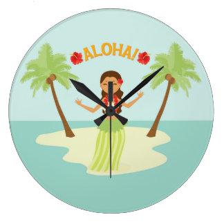 De leuke Hawaiiaanse Klok van Luau van het Meisje