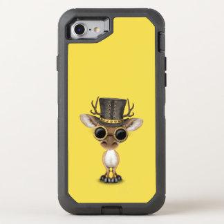 De leuke Herten van het Baby Steampunk OtterBox Defender iPhone 7 Hoesje