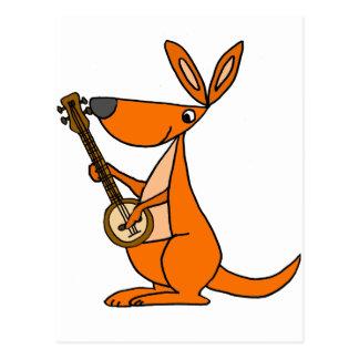 De leuke het Spelen van de Kangoeroe Cartoon van Briefkaart