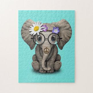 De leuke Hippie van de Olifant van het Baby Puzzel