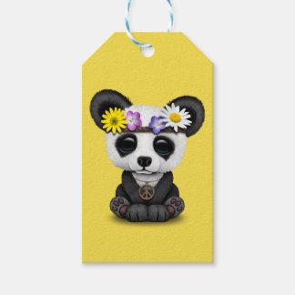 De leuke Hippie van de Panda van het Baby Cadeaulabel