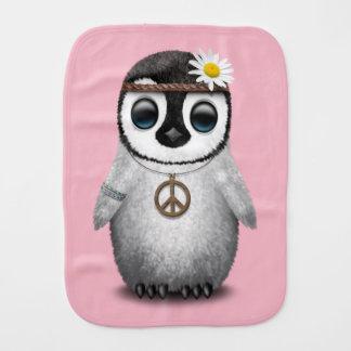 De leuke Hippie van de Pinguïn van het Baby Spuugdoekje