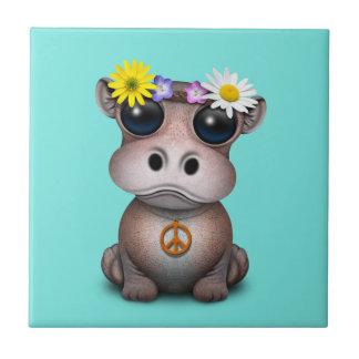 De leuke Hippie van Hippo van het Baby Tegeltje